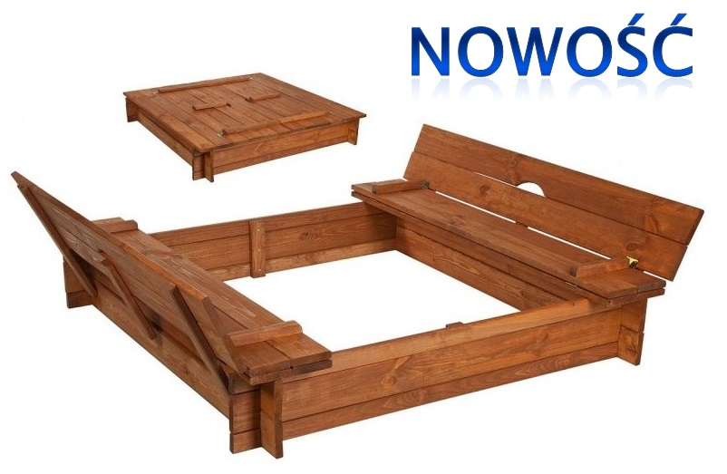 piaskownica drewniana z oparciami rejon las. Black Bedroom Furniture Sets. Home Design Ideas